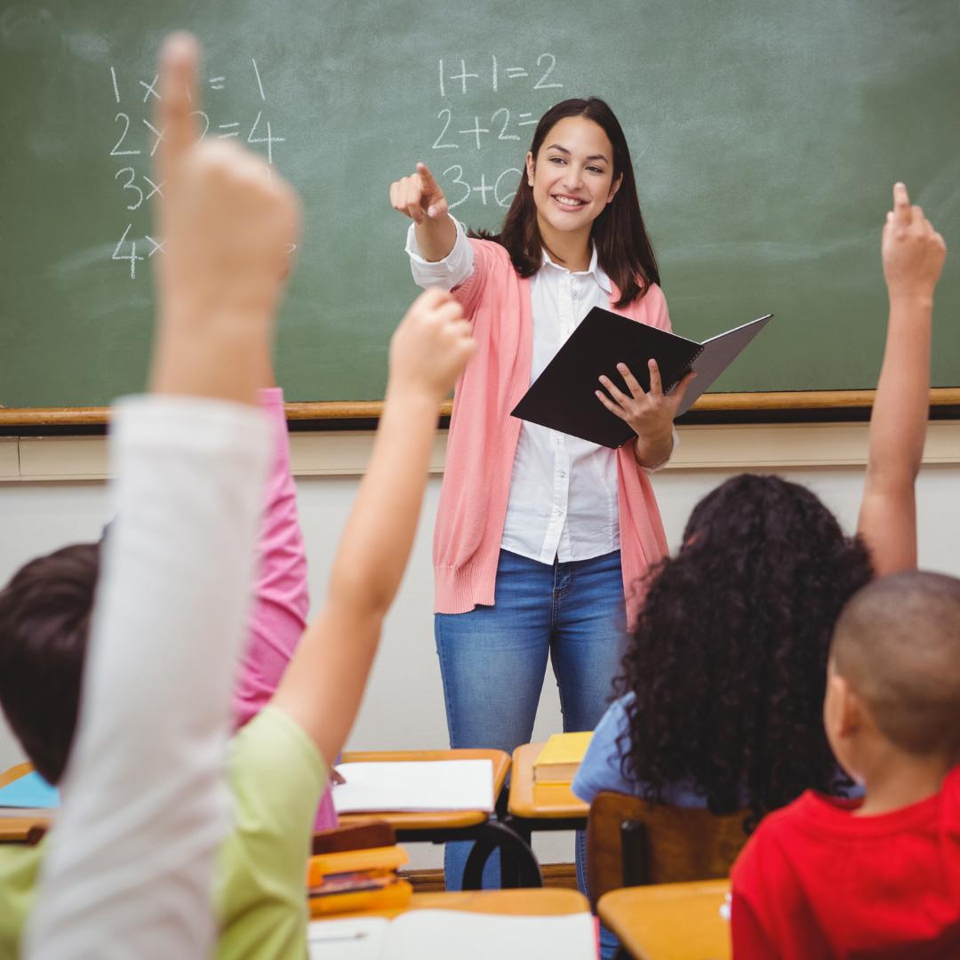 elementary school teacher in the classroom